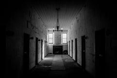 Port Arthur Penal Colony Prison Interior in Tasmania, Australia. View on cell block in historic Port Arthur penal colony prison in Tasmania, Australia Stock Photos