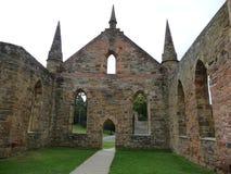 Port Arthur Penal Settlement church. Church ruins Port Arthur Penal settlement historic site Tasmania Stock Image