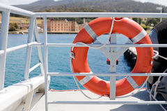 Port Arthur, Tasmania. View of Port Arthur penitentiary from boat royalty free stock photography