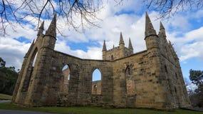 Port Arthur Tasmania Convict Church Ruins fotografering för bildbyråer