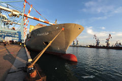 Port of Ashdod - Israel stock image