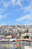 The port of athens. Under the bright sunshine Royalty Free Stock Photography