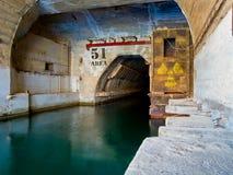 Port atomique de sous-marin du bateau 51 de dock radioactif Photographie stock libre de droits