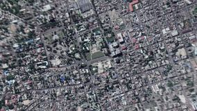 Earth Zoom In Zoom Out Port au Prince Haiti. Port au Prince Haiti seen from space to street level stock video