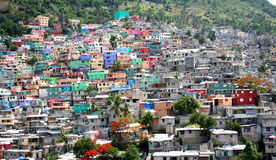 Port-au-Prince houses Stock Images