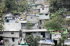 Port Au Prince's Stacked Housing. Housing stacked up a hillside in Port-Au-Prince, Haiti Stock Images