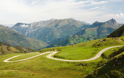 Port Aubisque, is a mountain pass in the department of Pyrénées-Atlantiques. In the Aquitaine region of France Stock Photos