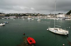 Port Audierne. Small port Audierne in Brittany, France Stock Photos
