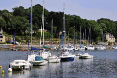 Port of Auray in France Stock Photography