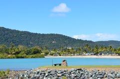 Port Australien för öar för Airlie strandpingstdag Fotografering för Bildbyråer
