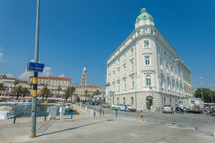 Port authority building in the port of Split. Royalty Free Stock Photos