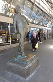 Port Authority Bus Terminal (PABT), statue of Jackie Gleason as Bus Driver Ralph Kramden royalty free stock images