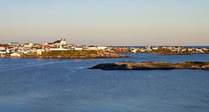 Port Aux Basques Evening Glow Royalty Free Stock Photography