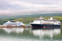 Port av akureyrien, Island royaltyfri foto