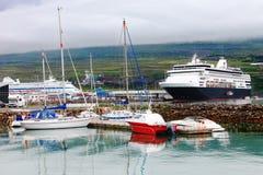 Port av akureyrien, Island Arkivfoton
