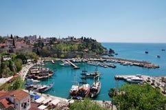 Port av Antalya, Turkiet Arkivbilder