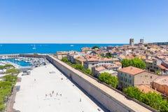 Port av Antibes, franska Riviera Arkivbild