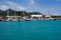 Port av Avatiu - ö av Rarotonga, kock Islands Arkivbilder
