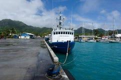 Port av Avatiu - ö av Rarotonga, kock Islands Royaltyfri Bild