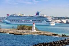 Port av Bahamas Arkivfoto