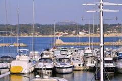 Port av Bandol i Frankrike Royaltyfri Fotografi