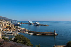 Port av Bastia Corse Frankrike Royaltyfri Bild