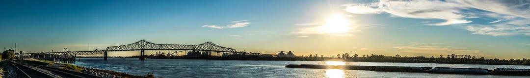 Port av Baton Rouge panorama Royaltyfri Bild