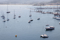 Port av Bayona Arkivfoton