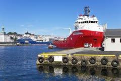 Port av Bergen. Arkivfoton
