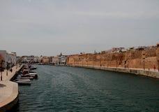 Port av Bezerte, Tunisien, Afrika Royaltyfri Fotografi