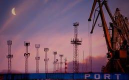 Port av Burgas Arkivbilder