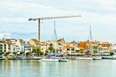port av Cambrils, Costa Dorada, Spanien royaltyfri foto