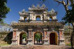 Port av citadelen Imperialistiska Forbidden City ton Royaltyfri Bild