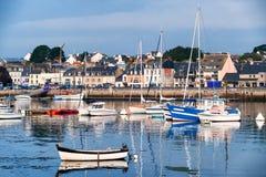 Port av Concarneau, Brittany, Frankrike Arkivfoto