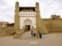Port av den Bukhara fästningen royaltyfria foton