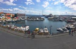 Port av den Gallipoli (Gelibolu) panapomaen Den Macedonian staden av Callipolis grundades i 5th Arkivfoto