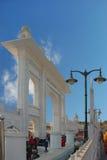Port av den huvudsakliga Gurudwara sikh- templet i Indien Royaltyfria Foton