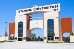 Port av den Istanbul universitetsområdet i Avcilar Royaltyfria Bilder