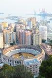 Port av den Malaga staden Royaltyfri Fotografi