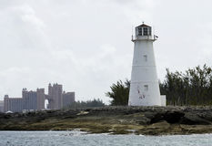 Port av den Nassau fyren Fotografering för Bildbyråer