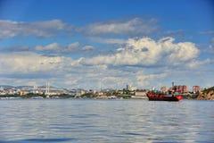Port av den Vladivostok staden Royaltyfri Fotografi