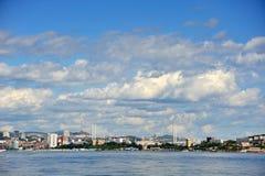 Port av den Vladivostok staden Arkivfoto