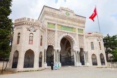 Port av det Istanbul universitetet, Beyazıt fyrkant Royaltyfri Fotografi
