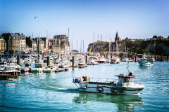 Port av Dieppe i Normandie, Frankrike Royaltyfri Fotografi