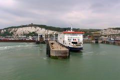 Port av Dover, England Arkivfoton