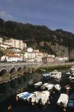 Port av Elantxobe Bizkaia det baskiska landet, Spanien, Arkivfoto