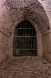 Port av en gammal medeltida slott Royaltyfri Foto