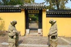 Port av en kinesisk tempel royaltyfri foto