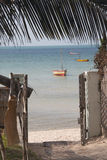 Port av ett gästhus i Vilanculos med havssikt Fotografering för Bildbyråer