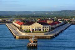 Port av Falmouth, Jamaica Arkivbilder